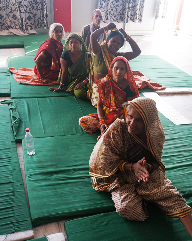Women came to the All In Conference and were sleeping on mats because they want to learn.