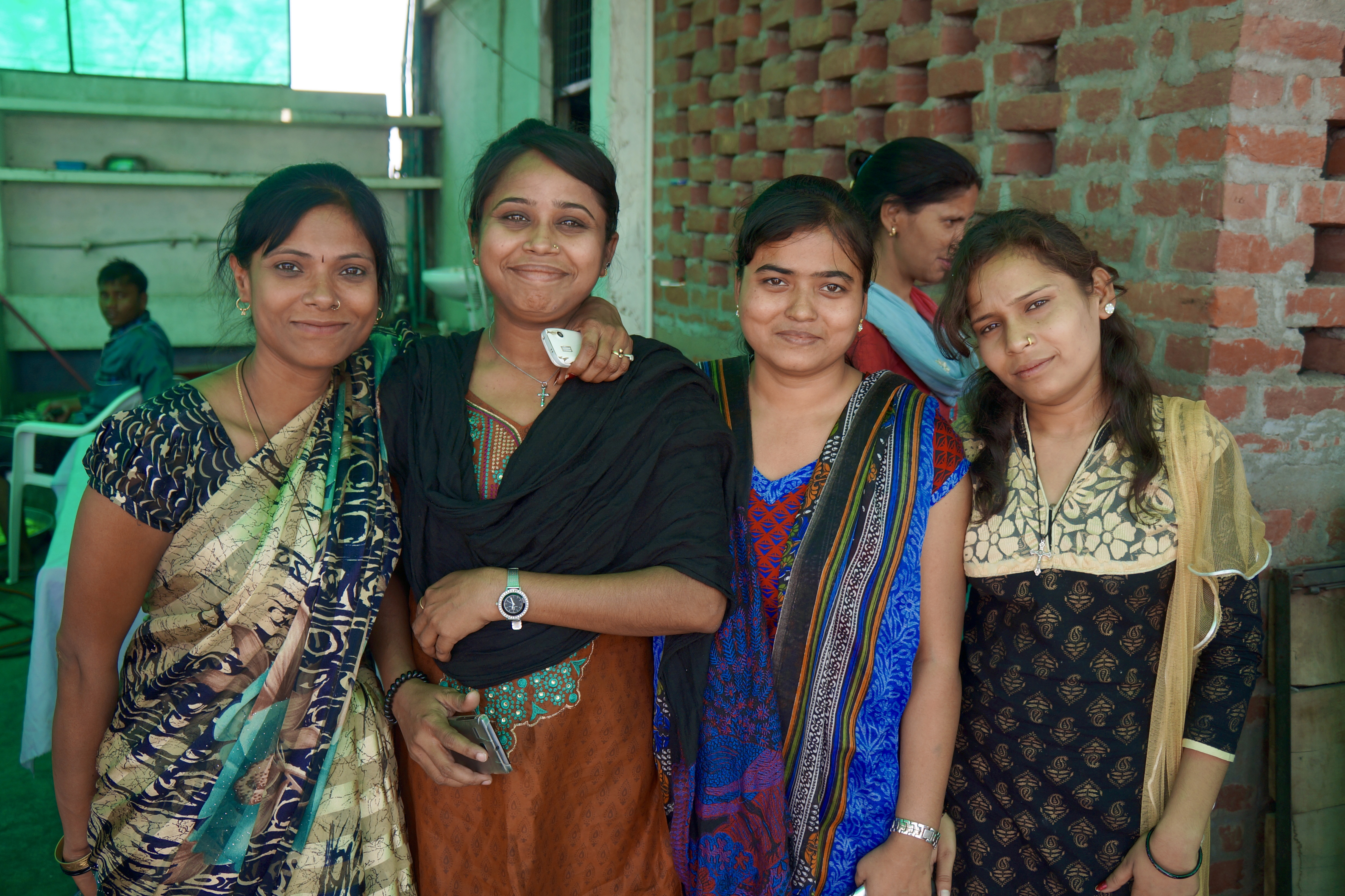 Young women attend the All In India Conference