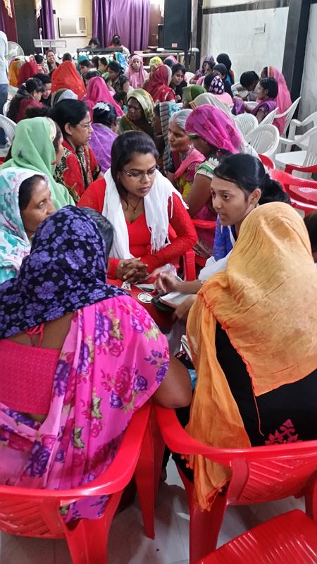 Group discussion at the All In Conference in Kanpur India