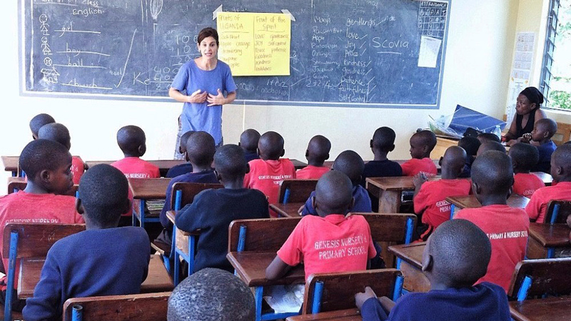 Children being taught VBS in Uganda on the All In and One More Child Partner Mission.