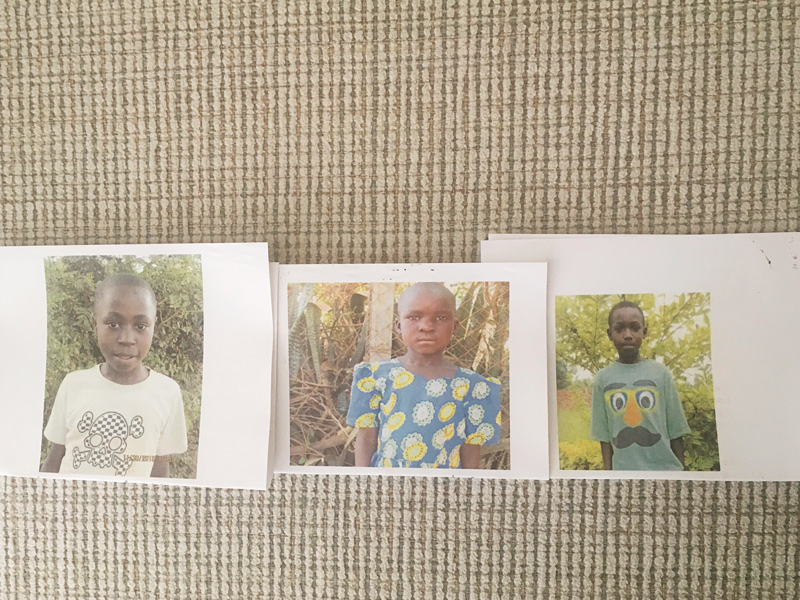 Pictures of children on the Uganda partner mission with One More Child.