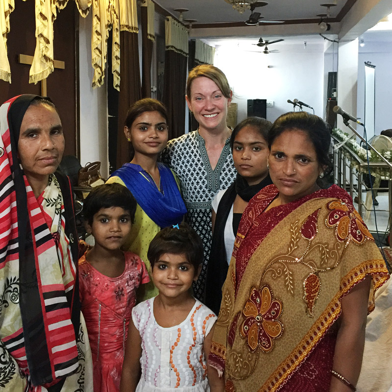 Women from the All In Conference in India