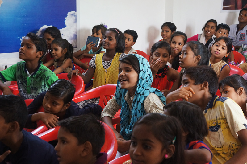 Children at the All In Conference in India