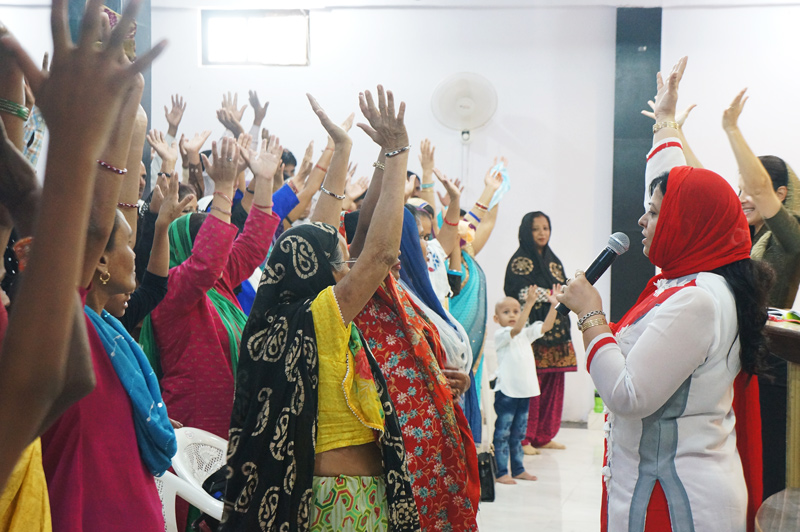 All In Ministries India Womens Conference women learning to be disciple-makers.
