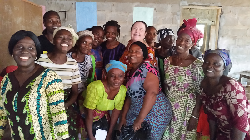 Equipping Women Leader's Ministry founder, Shelly Timbol, with trained women leaders who volunteer at the school and in their community.