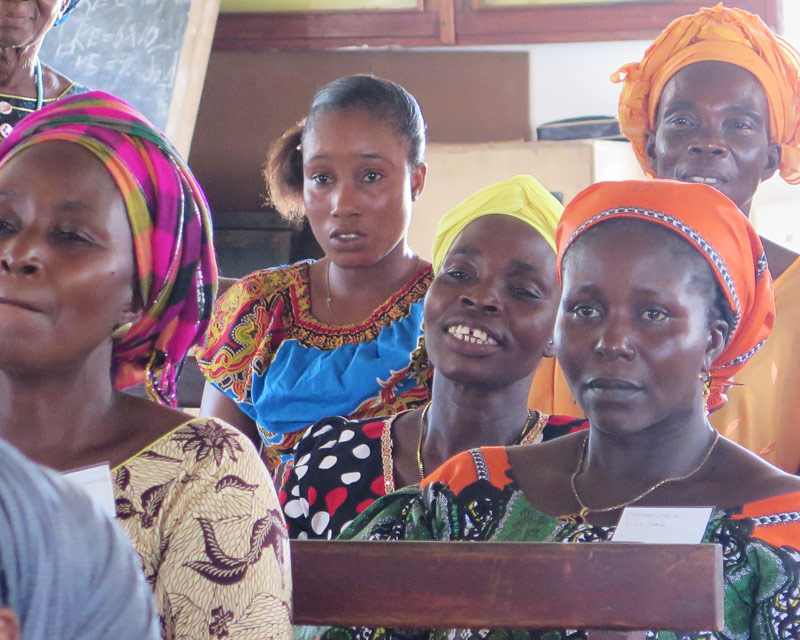 Women learn at the All In Conference in Liberia