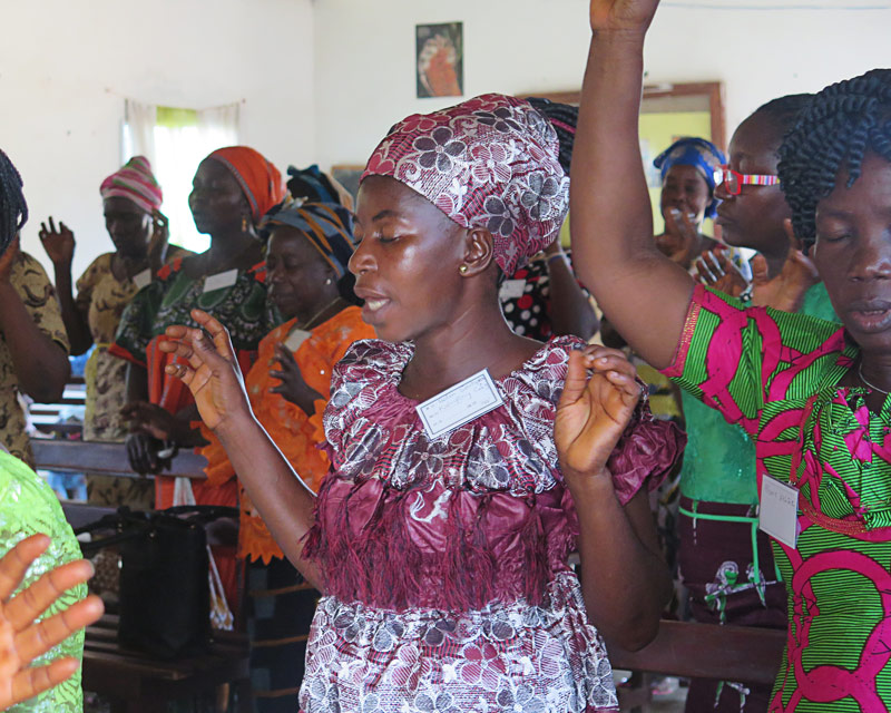 Women Worship at the All In Womens Conference in Liberia
