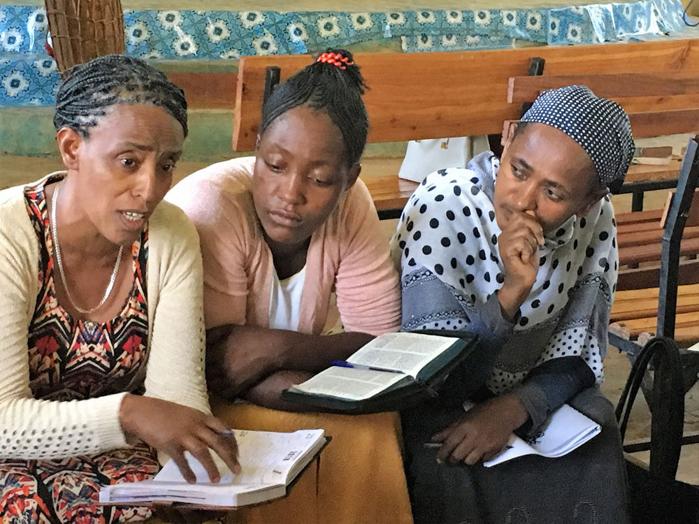 All In Ministries Wrongs Made Right in Ethiopia, Women gathering to learn to be disciple-makers