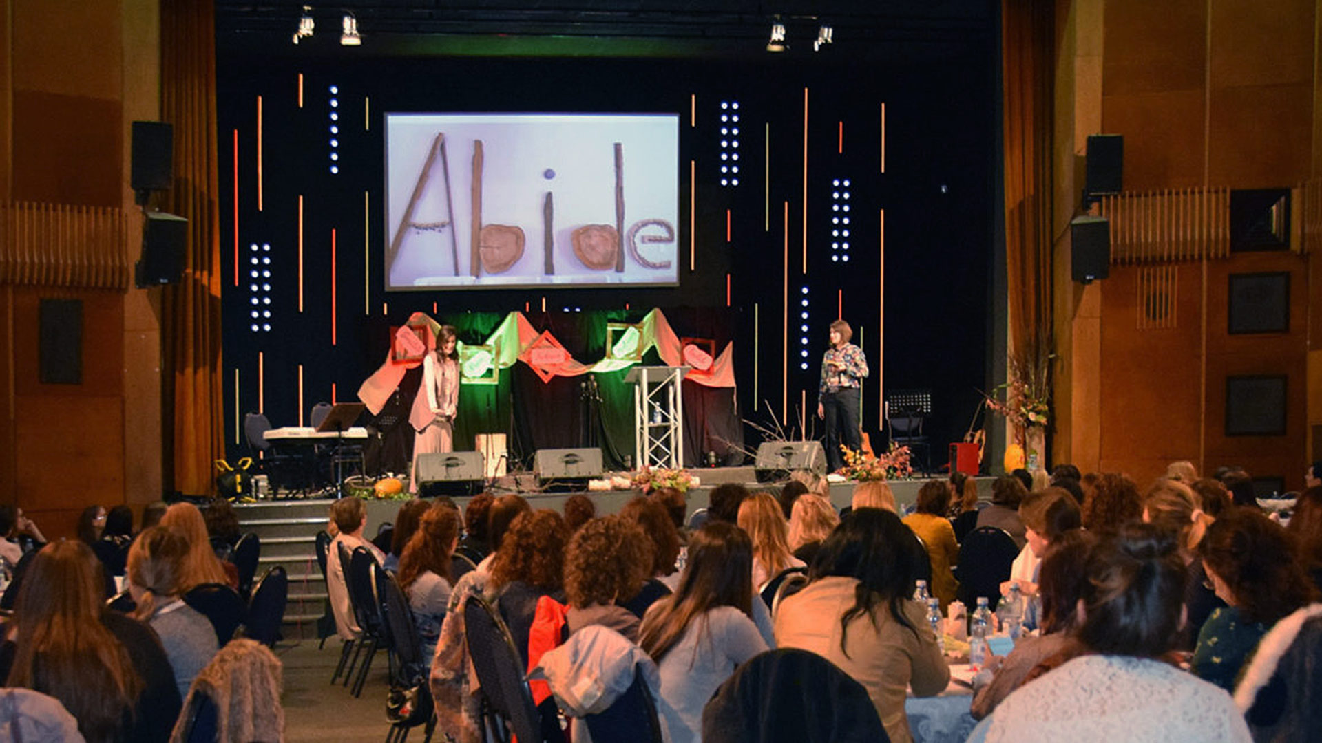 Women learning about God's love at the All In Romania Conference