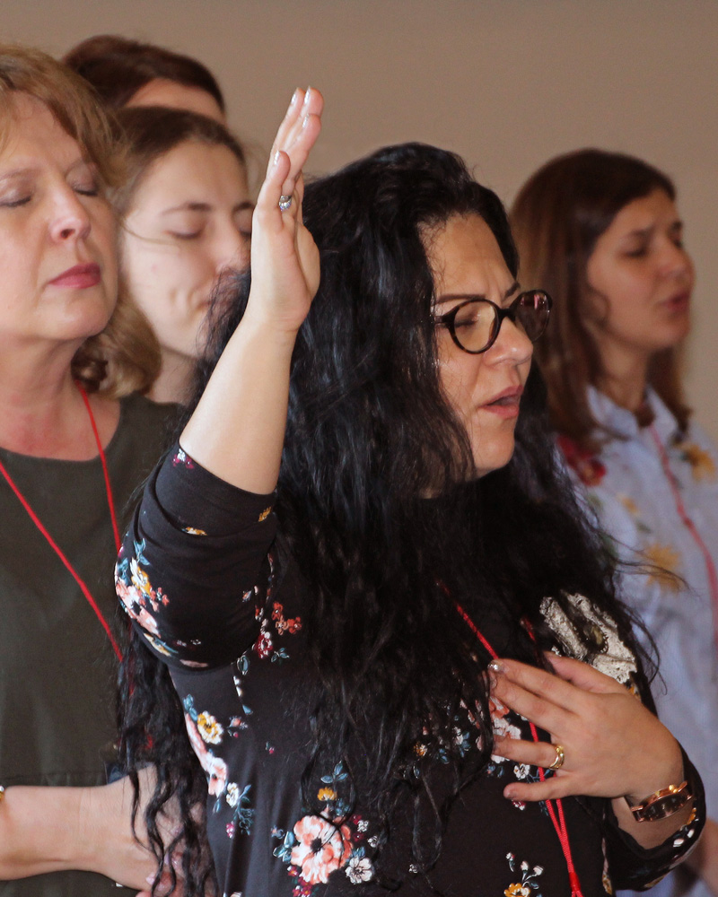 All In Women's Conference in Romania Women Worship as they lean into becoming a disciple maker for Jesus.