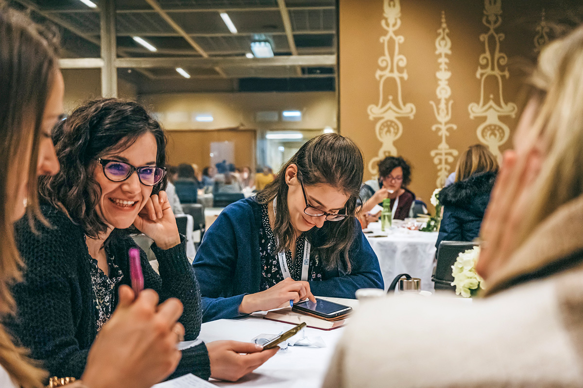 Women gathered at the All In Abide Conference in Budapest, Hungary to learn how becoming a disciple maker can impact others and they can be an important part in God's story