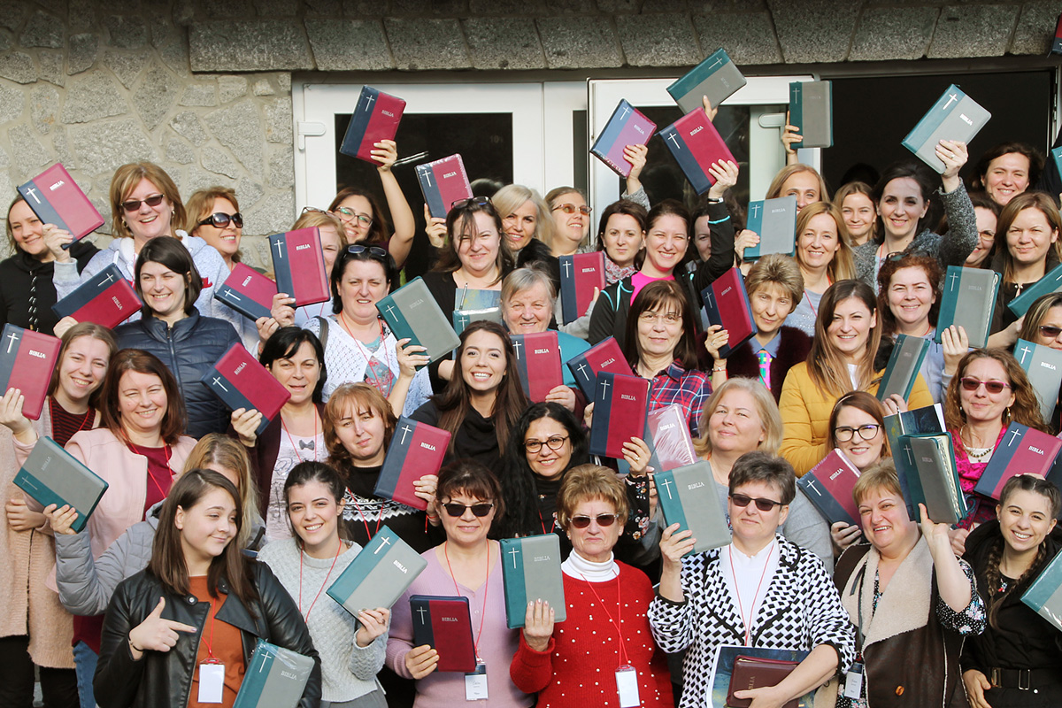 140 Bibles were given to the Romanian women becoming disciple makers who attended the All In Receive Conference!