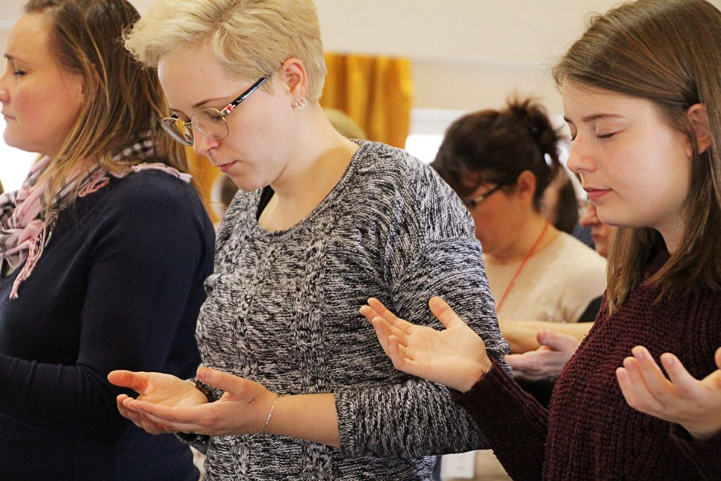 What does Palm Sunday represent and how we can respond to it. Just as these women pray at the All In Receive Conference in Romania others need to hear God's story.