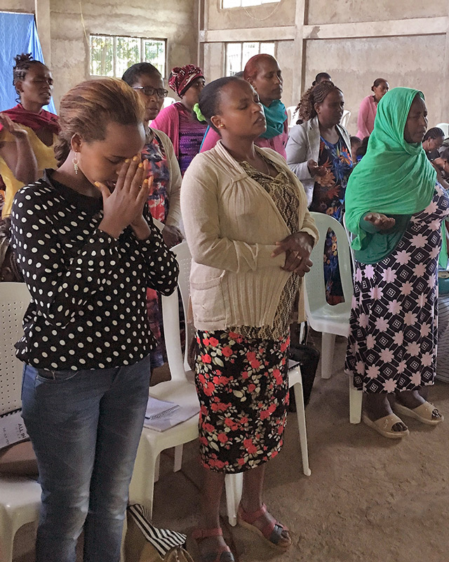 Identity in Christ is an important aspect of what we teach. Here women worship and pray at the Ethiopia All In Womens Conference
